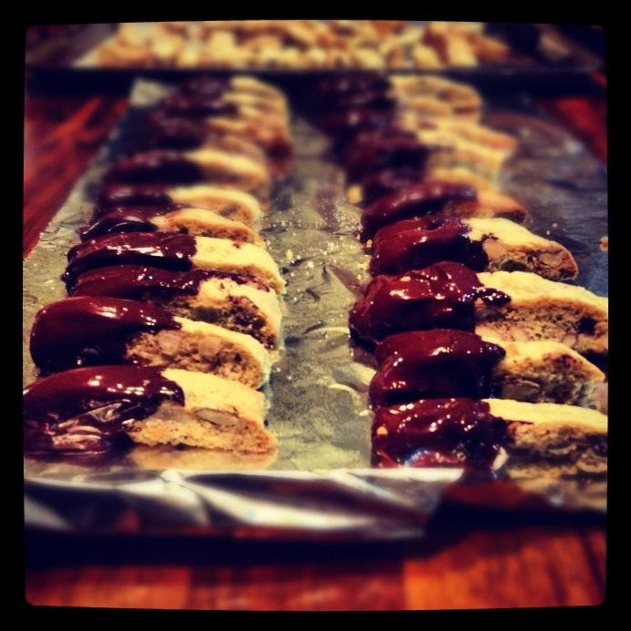 Cantucci di Prato – chocolate dipped