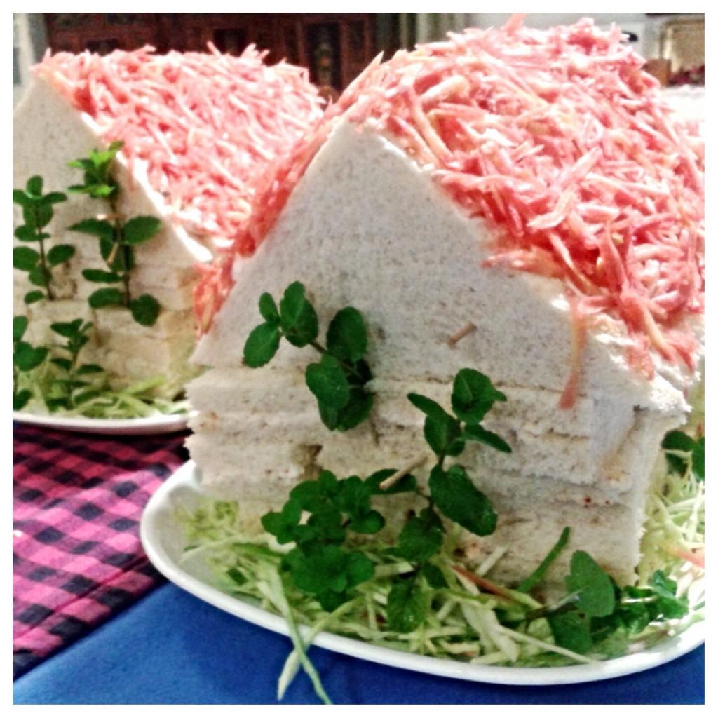 Sandwich houses, made by my amazingly creative Nani.